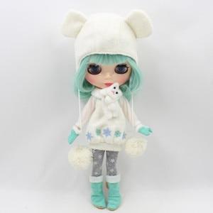 Image 2 - Blyth دمية ملابس الثلوج بما في ذلك اللباس ، طماق ، قبعة ، أحذية ، قفازات وشاح ل 1/6 دمية BJD NEO