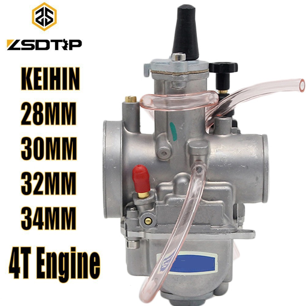 ZSDTRP Motorcycle 4T Engine Keihin Carburetor Carburador 28 30 32 34mm With Power Jet For Honda Yamaha Racing Motor цена