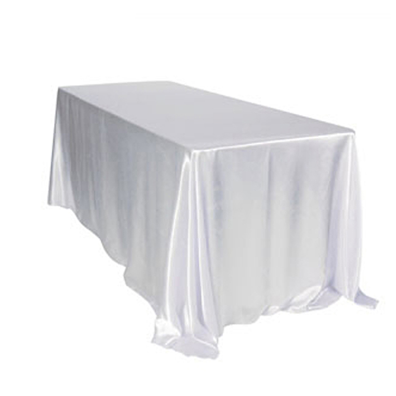 10PCS 145x320cm rectangular Satin Tablecloth Table Cloth Cover Waterproof dustproof Wedding Home DIY Decoration Home Textiles