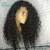 150% Density Remy Brazilian Wigs With Baby Hair Deep Curl Natural Color Pre Plucked Lace Front Human Hair Wigs Qearl Hair