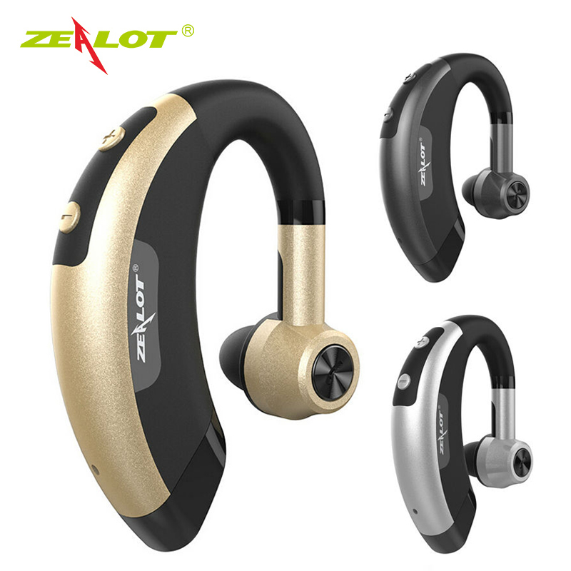Zealot E1 Wireless bluetooth headset music headphones car driver handsfree earphones with microphone in Handsfree Ear Hook