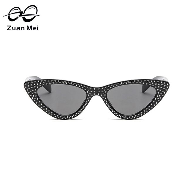 Zuan Mei Mulheres Rebite óculos de Sol Olho De Gato Moda Legal Preto  Vermelho Amarelo Do 47f589abfe