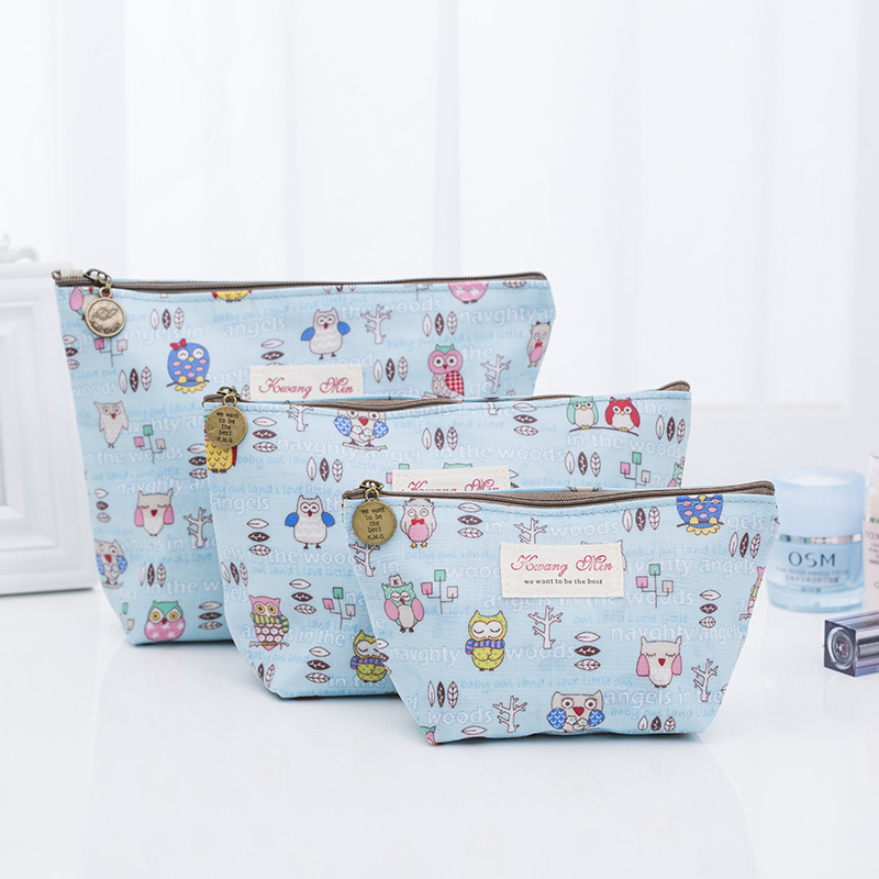 2018 New Zipper Owl Pattern Makeup Bags Clutch Cosmetic Cases Item Pouch For Travel Ladies Women Wash Bag Cotton Stuff Organizer ladsoul 2018 women multifunction makeup organizer bag cosmetic bags large travel storage make up wash lm2136 g