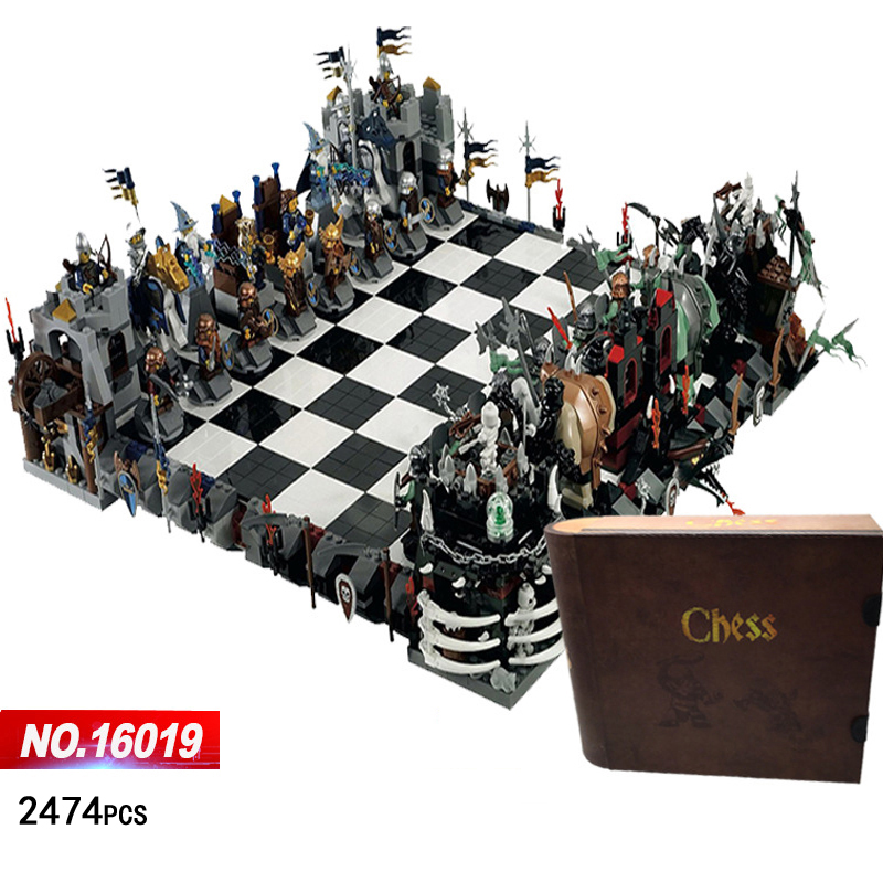 Classic Castle giant chess building block knight wizard Skeleton figures chariot bricks 852293 toys collection for kids adult castle and knight