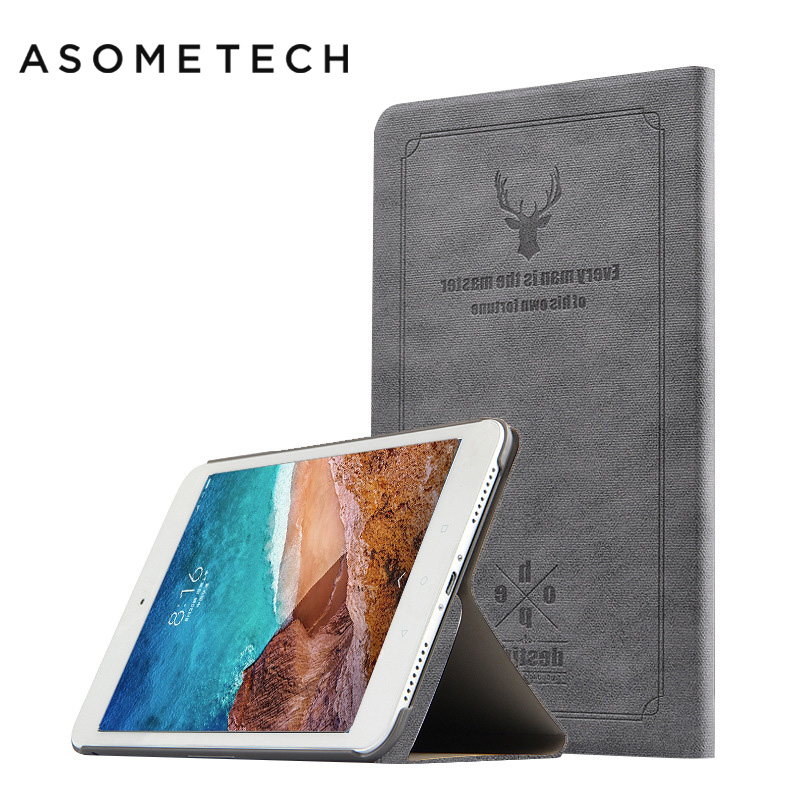 Smart Tablet Fundas For Xiaomi Mi Pad 4 8.0 Inch PU Leather Magnet Sleep Cover Stand Case PC For Mipad 4 Protective Cover Coque protective pu flip open case w stand for 7 9 xiaomi tablet pc black