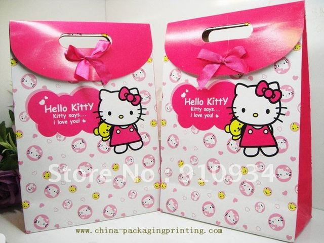 2012 New style ! Originality/Character/Wedding Supplies /Wedding favor box/HEIIO KITTY Hand middle gift bag