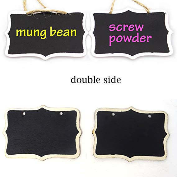 Black Vintage Style Chalkboard Sign Message Board with Jute Han.. Free Shipping