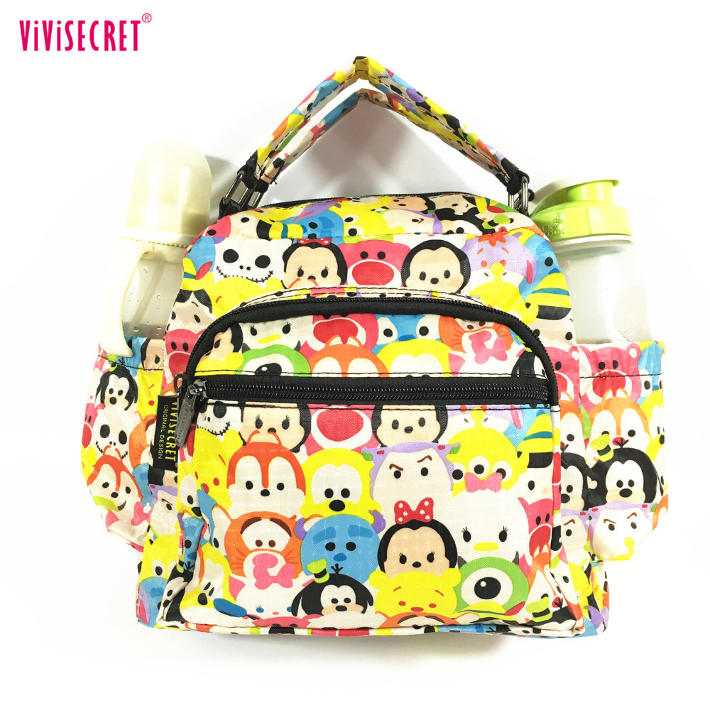 Women Waterproof Cute Cartoon Nylon Canvas Lunch Bag Handbag Shoulder Tote Tsum Personalizedbags Purse For Kids Boys Girls