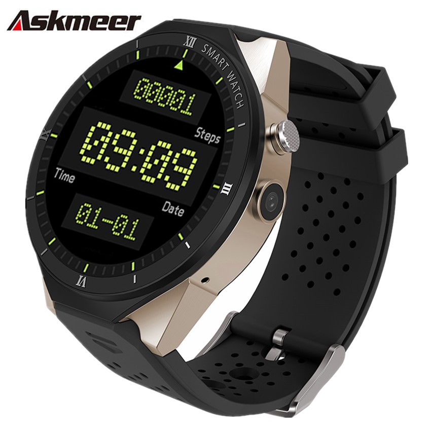 ASKMEER KW88 PRO Smart watch with 2MP Camera 1GB RAM 16GB Built-in memory of the sim card 3G WIFI GPS Smartwatch men AndroidASKMEER KW88 PRO Smart watch with 2MP Camera 1GB RAM 16GB Built-in memory of the sim card 3G WIFI GPS Smartwatch men Android