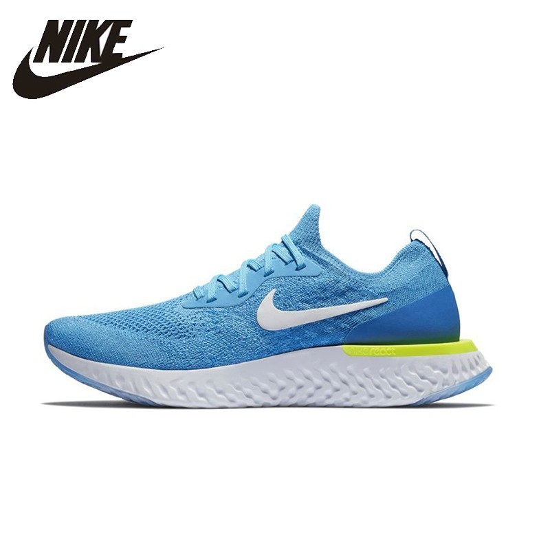 NIKE EPIC REACTFLYKNIT Original Mens Running Shoes Mesh Breathable Stability Support Sports Sneakers For Men Shoes nike original new arrival mens sneakers 2017 roshe one running shoes mesh breathable stability high quality for men 511881