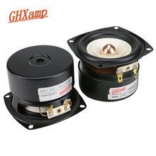 GHXAMP 3 Cal głośnik pełnozakresowy 4ohm 15W Hifi głęboki bas głośnik wysokotonowy głośnik basowy głośnik Bluetooth DIY 2 sztuk