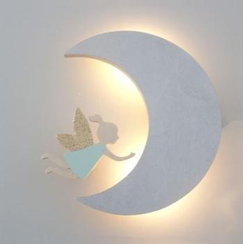 Деревянный беспроводной пульт дистанционного управления детский ночник декоративная деревянная бита человек Банни комната фон украшение свет подарок для ребенка