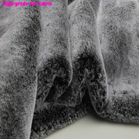 165x50cm1pc Top Grade Faux Fur Fabric Immitate Mild Rabbit Grey/White Tip 1.5cm Long Fur Fabric Sewing Material Diy Coat Collar