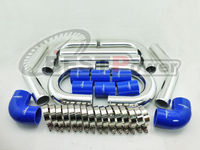 2.5 INCH 63mm UNIVERSAL 2MM THICKNESS ALUMINUM INTERCOOLER TURBO PIPE PIPING KIT