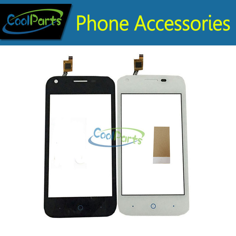 1PC/Lot High Quality 4.0Inch For ZTE Blade L110 Touch Screen Digitizer Touch Panel Lens Glass With Tape Black&White Color