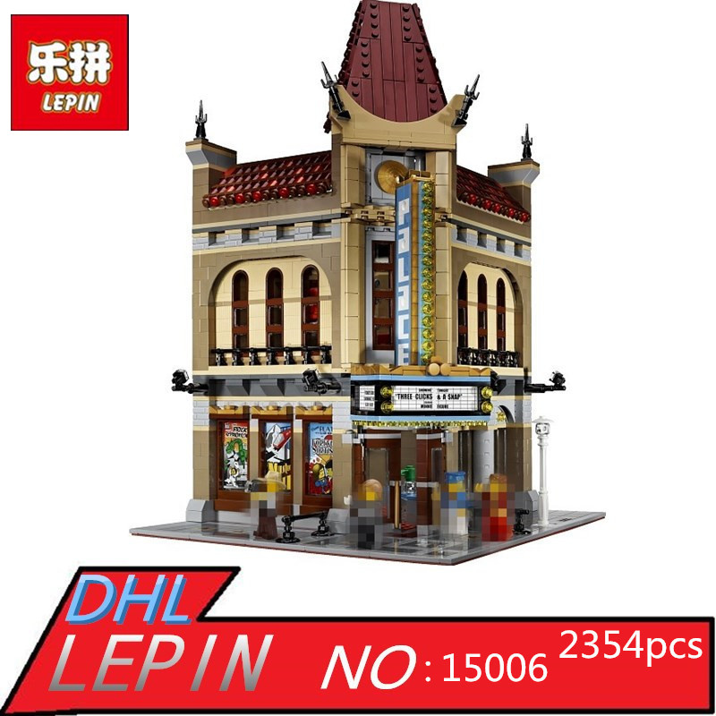 LEPIN 15006 2354pcs Palace Cinema Model Building Blocks Set Bricks Children Toys For Compatible legoed 10232 2016 new lepin 15006 2354pcs creator palace cinema model building blocks set bricks toys compatible 10232 brickgift