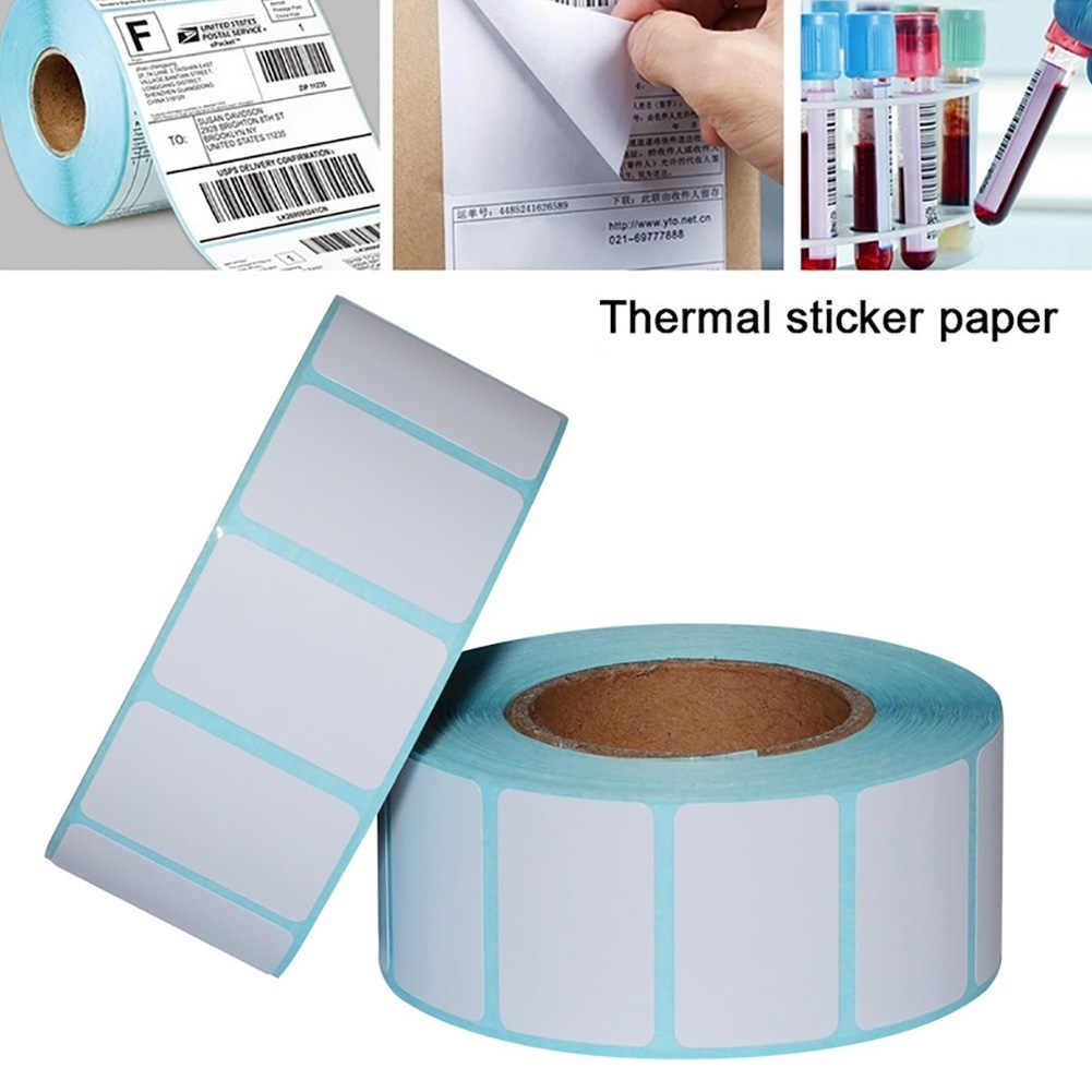 Baru 1000 Pcs/Roll 30X20 Mm Diri Perekat Thermal Label Barcode Stiker Pencetakan Kertas