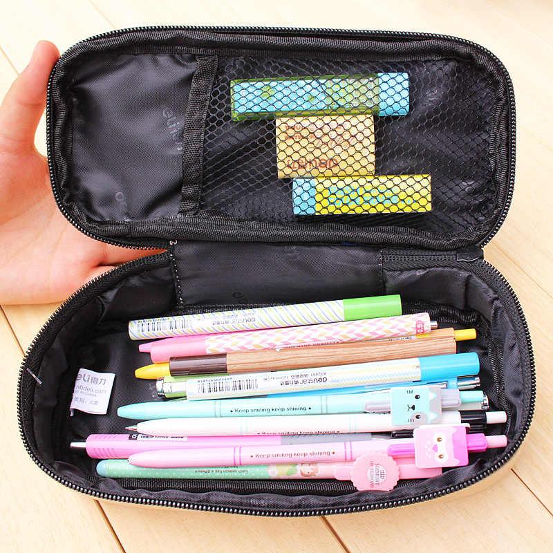 Deli Большой Горячая практические школьный пенал мешок 31721 для девочек и мальчиков Искусственная Кожа Пенал box школьные принадлежности подарок