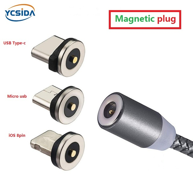 Round magnetic plug,circular magnetic charging cable,for huawei mate 20Pro/xiaomi 8/Samsung note 9 S7/OPPO R17 R15(2pcs/pack)