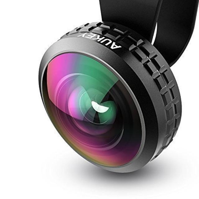 0.2x aukey original de 238 grados súper gran angular alta claridad celular teléfono con cámara de lente óptica lente pro kit para el iphone samsung lente