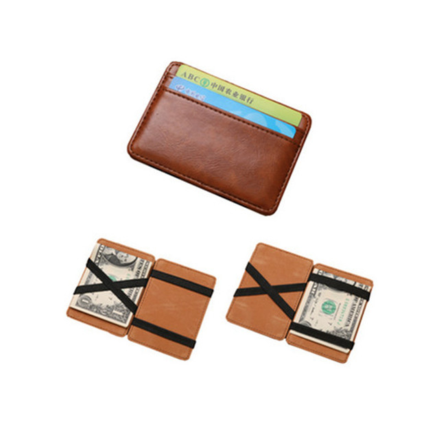 bb130287c Magia Carteiras Carteira Masculina Bolso Coreano Carteiras Grampo do  Dinheiro Cofre Couro Designer Carteira Magica Carteras