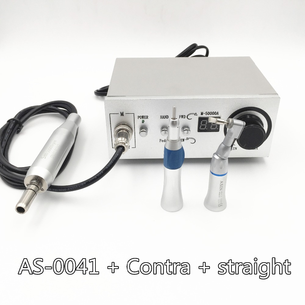 2016 NEW 50,000 RPM Brushless Dental Micromotor Polishing Unit with contra angle + straight handnpiece dental micro motor dental lab equipment polisher micromotor hand piece contra angle and straight high speed 50 000rpm electric grinder brushless