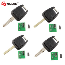 YIQIXIN 3 Button Remote Key For Vauxhall Opel Astra Vectra Zafira Omega Car HU100 HU43 HU46 YM28 Blade 433Mhz ID40 Chip