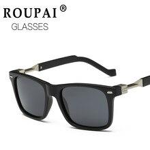 1772732d84aa2 ROUPAI Polarizada óculos de Sol Tons Quadrados dos homens Ao Ar Livre  Masculino Óculos De Sol Para Homens Retro Baratos 00 UV Óc..