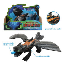 "9""23cm How to Train Your Dragon 3 Hiccup Light Fury Night Fury Toothless Action Figure White Dragon Toys Figures For Boys Gifts(China)"