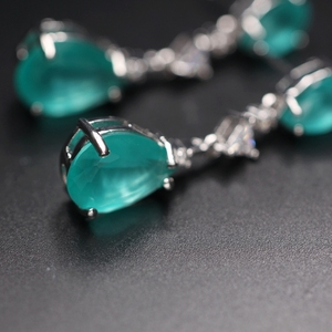 Image 4 - Water drop earrings for women Gifts AAA cubic zircona Long Pendant Dangle Earring Fashion Elegant Charm Earrings Wedding Jewelry