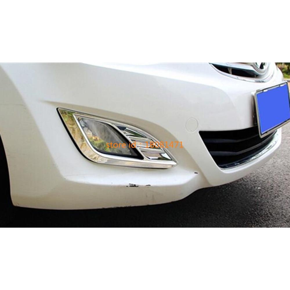 Chrome Front+rear Fog Light lamp cover trim For Hyundai santa fe 2010-2012