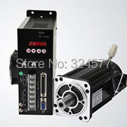 цена на Best price great quality Servo motor set :4N.M 1KW 2500RPM AC 80ST-M04025 with Matched Servo Driver and free wiring