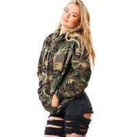 Autumn And Winter Army Camouflage Printing Hoodies Sweatshirts Women Clothing Feminina Loose Camo Hooded Pullover Sweats