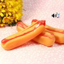 creative Pet Dog hot dog shape sound toy dog cat toy pet toys 2017 Newest Hot selling W5 14*4cm