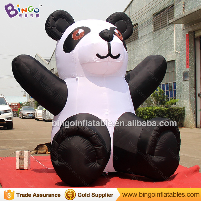 New design funny inflatable panda 2.4m talll sitting inflatable mobile cartoon inflatable costume for saleNew design funny inflatable panda 2.4m talll sitting inflatable mobile cartoon inflatable costume for sale