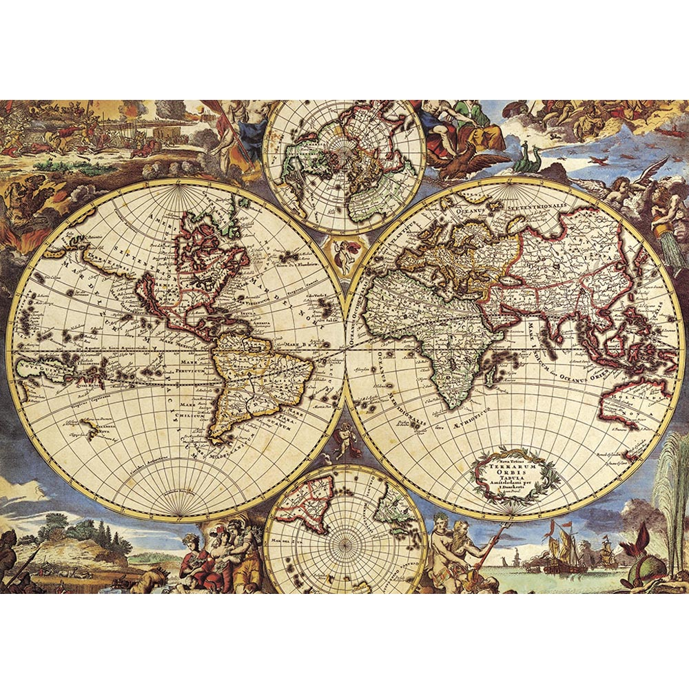 цена на 1000 pieces Famous Painting of World map Jigsaw Puzzle Art Oil Painting DIY Jigsaw Puzzle Creativity Imagine Toys
