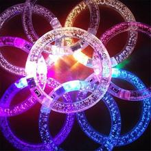 Cool Funny Lighting LED Colorful Lights Bracelets Acrylic Bubble Light Bracelet Party Group Activities Decoration Wholesale(China)