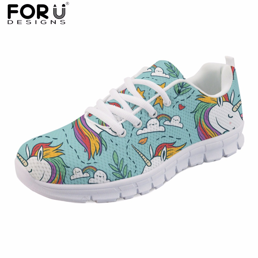 FORUDESIGNS Horse Spring Women Flats Shoes Brand Designer Lightweight Women's Sneakers Lace-up Comfortable Shoes Zapatos Mujer forudesigns 3d flowers pattern women casual sneakers comfortable mesh flats shoes for female girls lace up shoes zapatos mujer