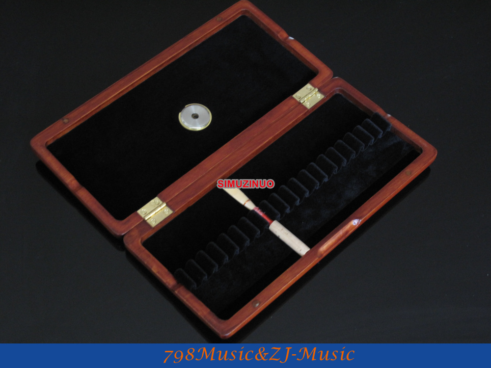 ФОТО Oboe Reed Case for 20pcs Reeds-Wood Reeds Case AAA+++with Hygrometer