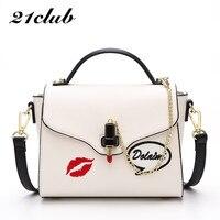 21club brand red lip seal chains lipstick decoration handbag hotsale laides purse women evening clutch messenger shoulder bags