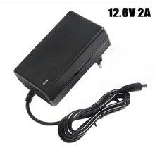 12.6 v 2A Battery Charger DC 5.5*2.1 & 2.5mm EU/US/UK Plug 110  220 v 3*18650 Lithium Charger Power Adapter Voor 12 v Lithium Batterij