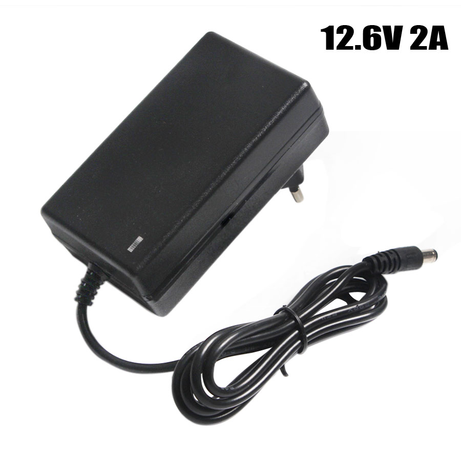 12 6V 2A Battery Charger DC 5 5 2 1 amp 2 5mm EU US UK Plug 110-220V 3 18650 Lithium Charger Power Adaptor For 12V Lithium Battery