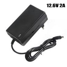 820d8e79d874e 12.6V 2A Battery Charger DC 5.5*2.1&2.5mm EU/US/UK Plug 110-220V 3*18650  Lithium Charger Power Adaptor For 12V Lithium Battery