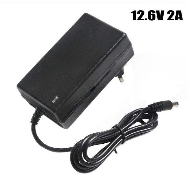 12.6V 2A Battery Charger DC 5.5*2.1&2.5mm EU/US/UK Plug 110 220V 3*18650 Lithium Charger Power Adaptor For 12V Lithium Battery