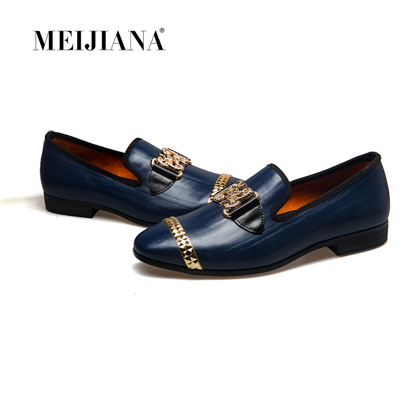 MeiJiaNa 2018 New Men genuine leather loafers Shoes Handsome Comfortable Brand Men Casual ShoesMeiJiaNa 2018 New Men genuine leather loafers Shoes Handsome Comfortable Brand Men Casual Shoes