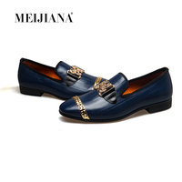 MeiJiaNa 2018 New Men genuine leather loafers Shoes Handsome Comfortable Brand Men Casual Shoes