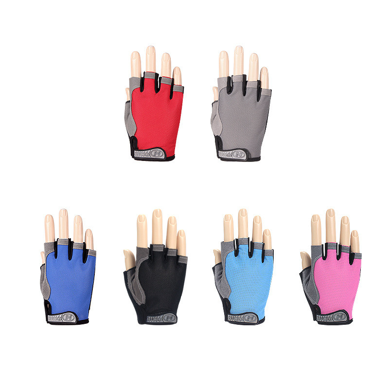 New Anti-slip Breathable Half Fitness Gloves Gym Weightlifting Cycling Glove LA
