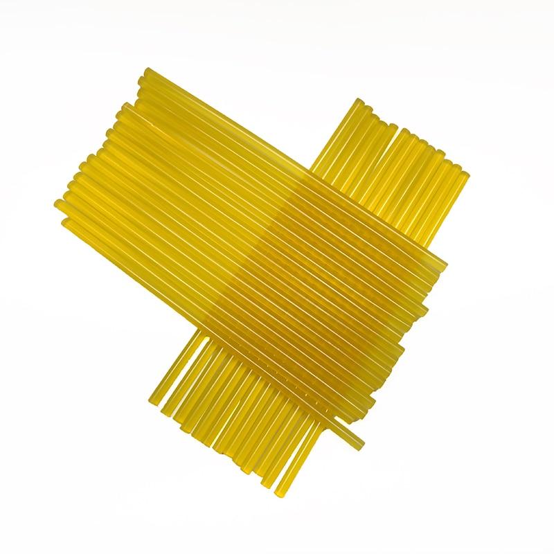 50vnt. / Partija 7x250mm karšto lydymosi klijų lazdelė 7 mm geltono klijų lazdelės, skirtos elektriniam klijų pistoletui, automobilių remontui, tvirto klampumo klijų lazdelėms