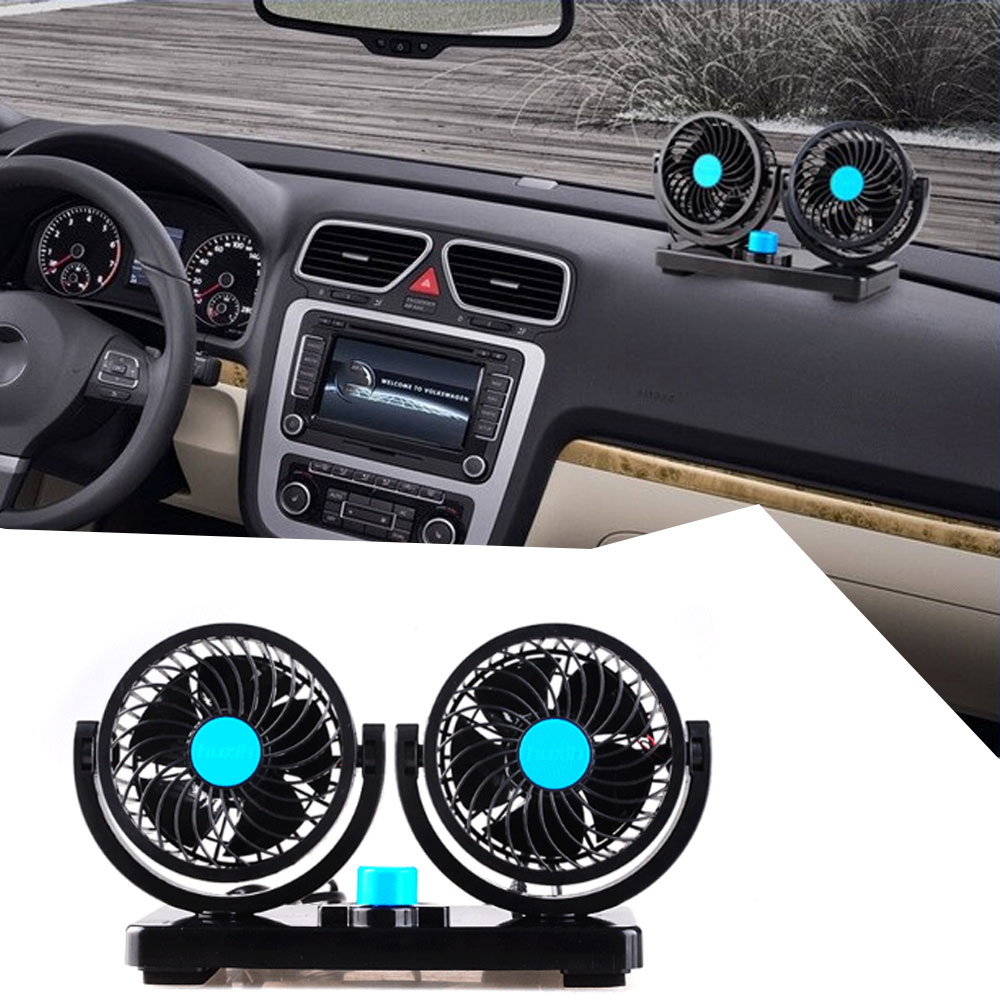 Universal DC 12V Vehicle Fan 360 degree Rotating All-around adjustment Low Noise Air Cooling fan for Driver and Passenger