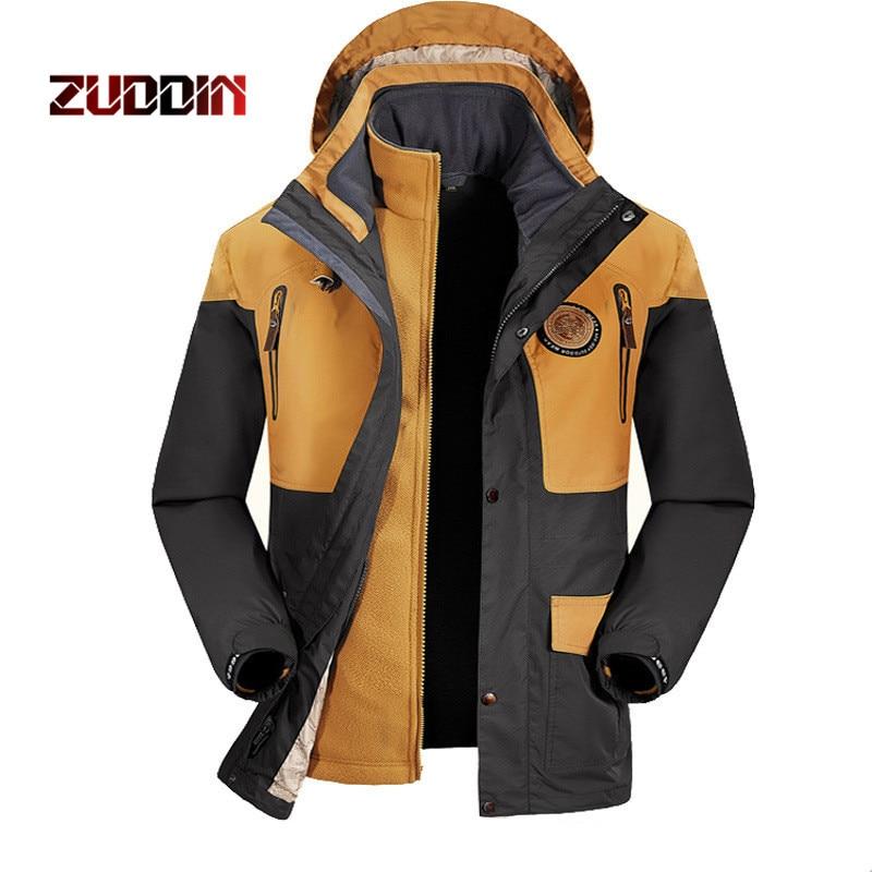 Dropshipping Outdoor two-piece Men Jacket Hiking Heated Sport Hunting jacket Fleece Trekking Waterproof Fishing Coat jacket thirty two metcalf insulated jacket clay